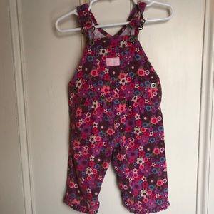 Flowered corduroy Oshkosh overalls